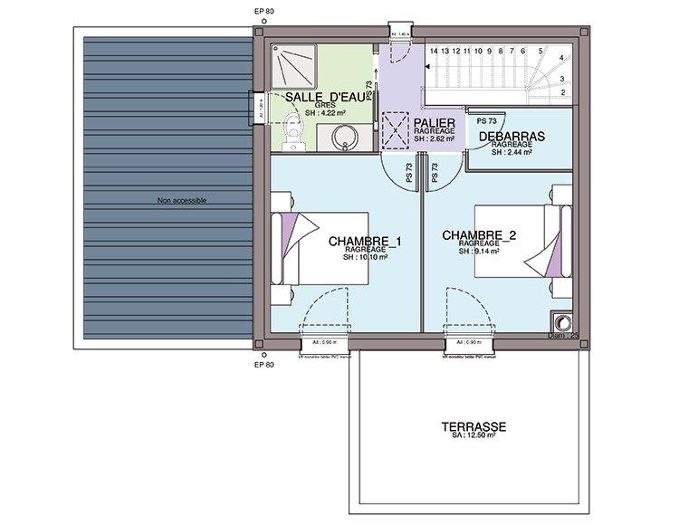 Plan Maison A Etage Avec 2 Chambres Ooreka 2